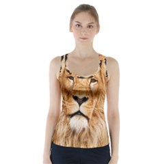 Africa African Animal Cat Close Up Racer Back Sports Top