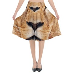 Africa African Animal Cat Close Up Flared Midi Skirt