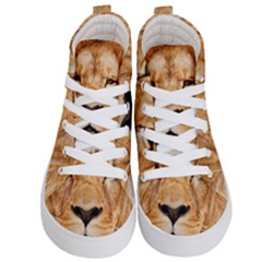 Africa African Animal Cat Close Up Kid s Hi Top Skate Sneakers