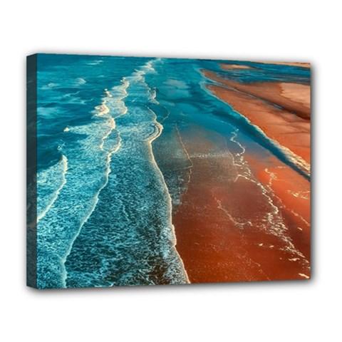 Sea Ocean Coastline Coast Sky Canvas 14  X 11