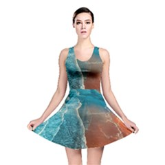 Sea Ocean Coastline Coast Sky Reversible Skater Dress