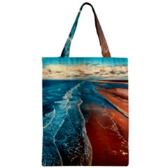 Sea Ocean Coastline Coast Sky Zipper Classic Tote Bag