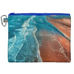 Sea Ocean Coastline Coast Sky Canvas Cosmetic Bag (xxl)