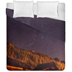 Italy Cabin Stars Milky Way Night Duvet Cover Double Side (california King Size)