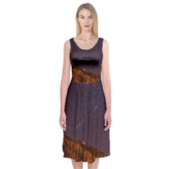 Italy Cabin Stars Milky Way Night Midi Sleeveless Dress