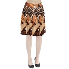 Iceland Mountains Snow Ravine Pleated Skirt