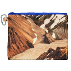 Iceland Mountains Snow Ravine Canvas Cosmetic Bag (xxl)