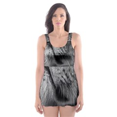 Feline Lion Tawny African Zoo Skater Dress Swimsuit