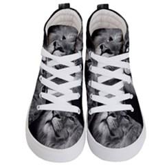 Feline Lion Tawny African Zoo Kid s Hi Top Skate Sneakers