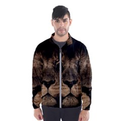 African Lion Mane Close Eyes Wind Breaker (men)