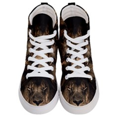 African Lion Mane Close Eyes Men s Hi Top Skate Sneakers