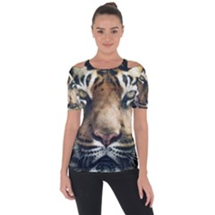 Tiger Bengal Stripes Eyes Close Short Sleeve Top