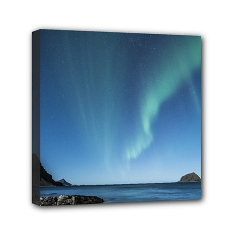 Aurora Borealis Lofoten Norway Canvas Travel Bag