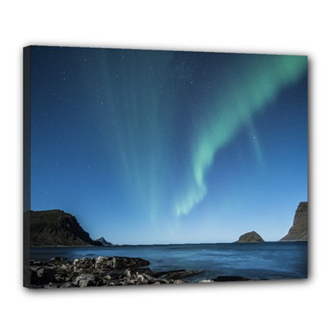 Aurora Borealis Lofoten Norway Canvas 20  X 16