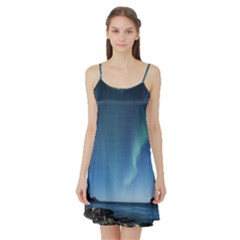 Aurora Borealis Lofoten Norway Satin Night Slip