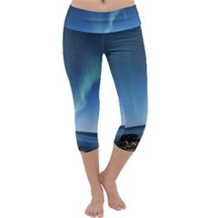 Aurora Borealis Lofoten Norway Capri Yoga Leggings