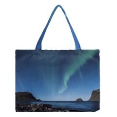 Aurora Borealis Lofoten Norway Medium Tote Bag