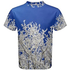 Crown Aesthetic Branches Hoarfrost Men s Cotton Tee