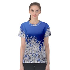 Crown Aesthetic Branches Hoarfrost Women s Sport Mesh Tee