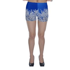 Crown Aesthetic Branches Hoarfrost Skinny Shorts