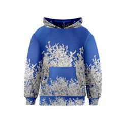 Crown Aesthetic Branches Hoarfrost Kids  Pullover Hoodie