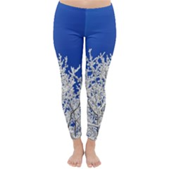 Crown Aesthetic Branches Hoarfrost Classic Winter Leggings