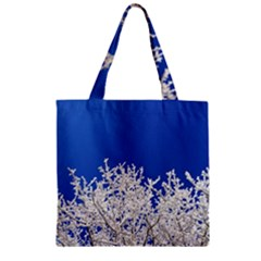 Crown Aesthetic Branches Hoarfrost Zipper Grocery Tote Bag