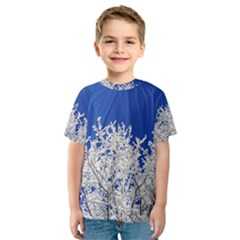 Crown Aesthetic Branches Hoarfrost Kids  Sport Mesh Tee