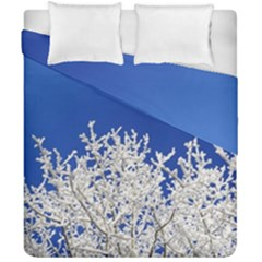 Crown Aesthetic Branches Hoarfrost Duvet Cover Double Side (california King Size)