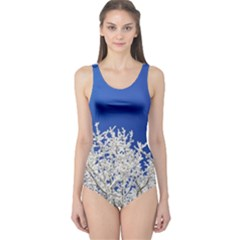 Crown Aesthetic Branches Hoarfrost One Piece Swimsuit