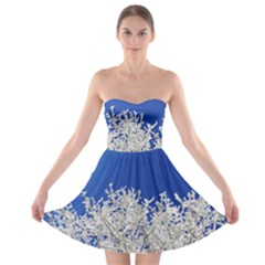 Crown Aesthetic Branches Hoarfrost Strapless Bra Top Dress