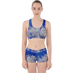 Crown Aesthetic Branches Hoarfrost Work It Out Sports Bra Set