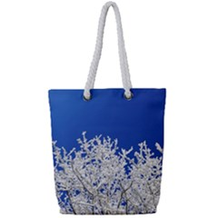 Crown Aesthetic Branches Hoarfrost Full Print Rope Handle Tote (small)