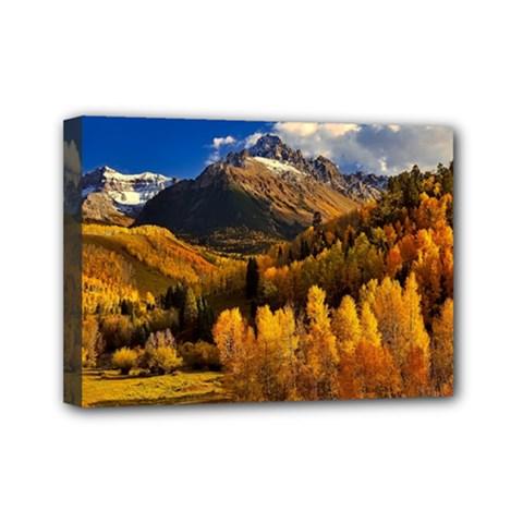 Colorado Fall Autumn Colorful Mini Canvas 7  X 5