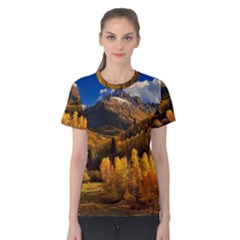 Colorado Fall Autumn Colorful Women s Cotton Tee