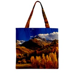Colorado Fall Autumn Colorful Zipper Grocery Tote Bag