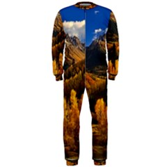 Colorado Fall Autumn Colorful Onepiece Jumpsuit (men)