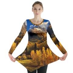 Colorado Fall Autumn Colorful Long Sleeve Tunic