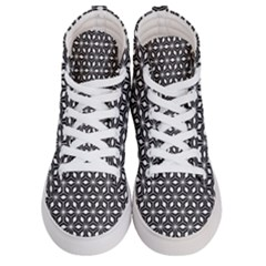 Asterisk Black White Pattern Men s Hi Top Skate Sneakers