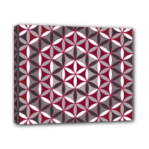 Flower Of Life Pattern Red Grey 01 Canvas 10  X 8