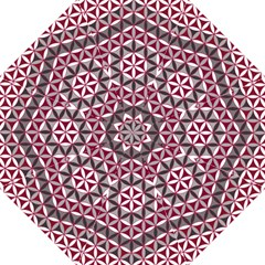 Flower Of Life Pattern Red Grey 01 Folding Umbrellas