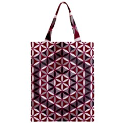 Flower Of Life Pattern Red Grey 01 Zipper Classic Tote Bag