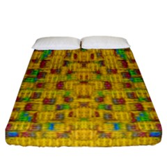 Rainbow Stars In The Golden Skyscape Fitted Sheet (california King Size)