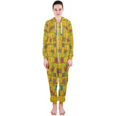 Rainbow Stars In The Golden Skyscape Hooded Jumpsuit (ladies)