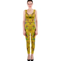 Rainbow Stars In The Golden Skyscape Onepiece Catsuit