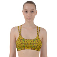 Rainbow Stars In The Golden Skyscape Line Them Up Sports Bra