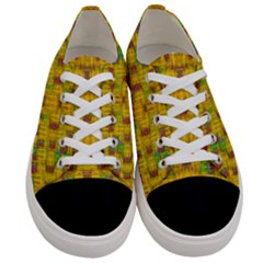 Rainbow Stars In The Golden Skyscape Women s Low Top Canvas Sneakers