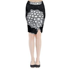 Strange Planet Midi Wrap Pencil Skirt