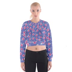Roses And Roses Cropped Sweatshirt