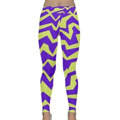 Polynoise Vibrant Royal Classic Yoga Leggings